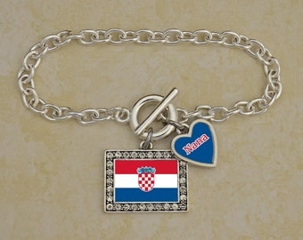 Custom Family Croatia Bracelet
