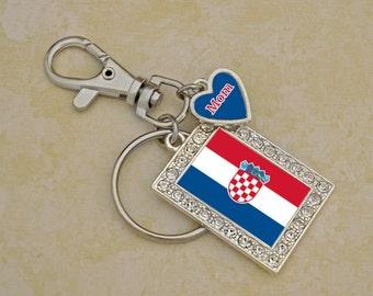 Custom Family Croatia Keychain - FLAGHR54592