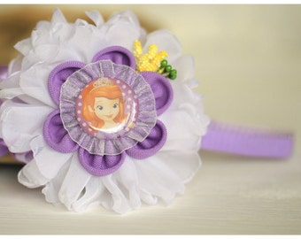 Purple Headband Sofia the First Headband, Spring Headband,Fabric Headband,Girls Hair Accessories,Hairband,Floral,Kids Hairband,Photo prop