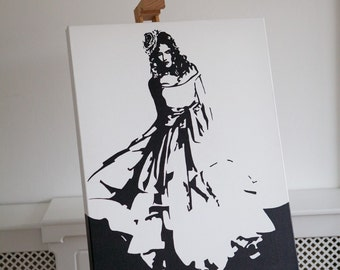 Original Oil Painting on Canvas: Princess Dress (inspired by Vivienne Westwood)