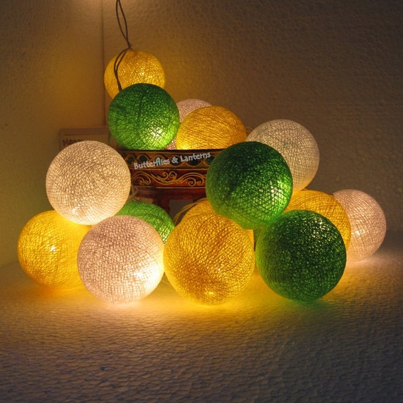 Mixed 3 Color Lime Green Yellow White by Butterflies2Lanterns