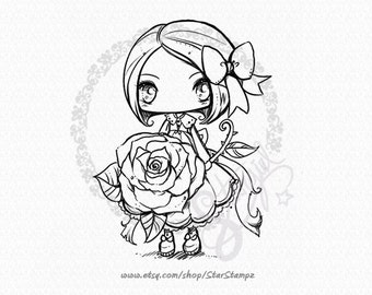 My Sweet Rose - DIGITAL STAMP Instant Download