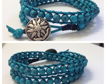 Double wrap beaded bracelet