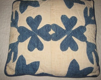 American Country Blue and White Pillow