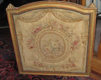 French Antique Louis XVI Style Frame withTapestry .