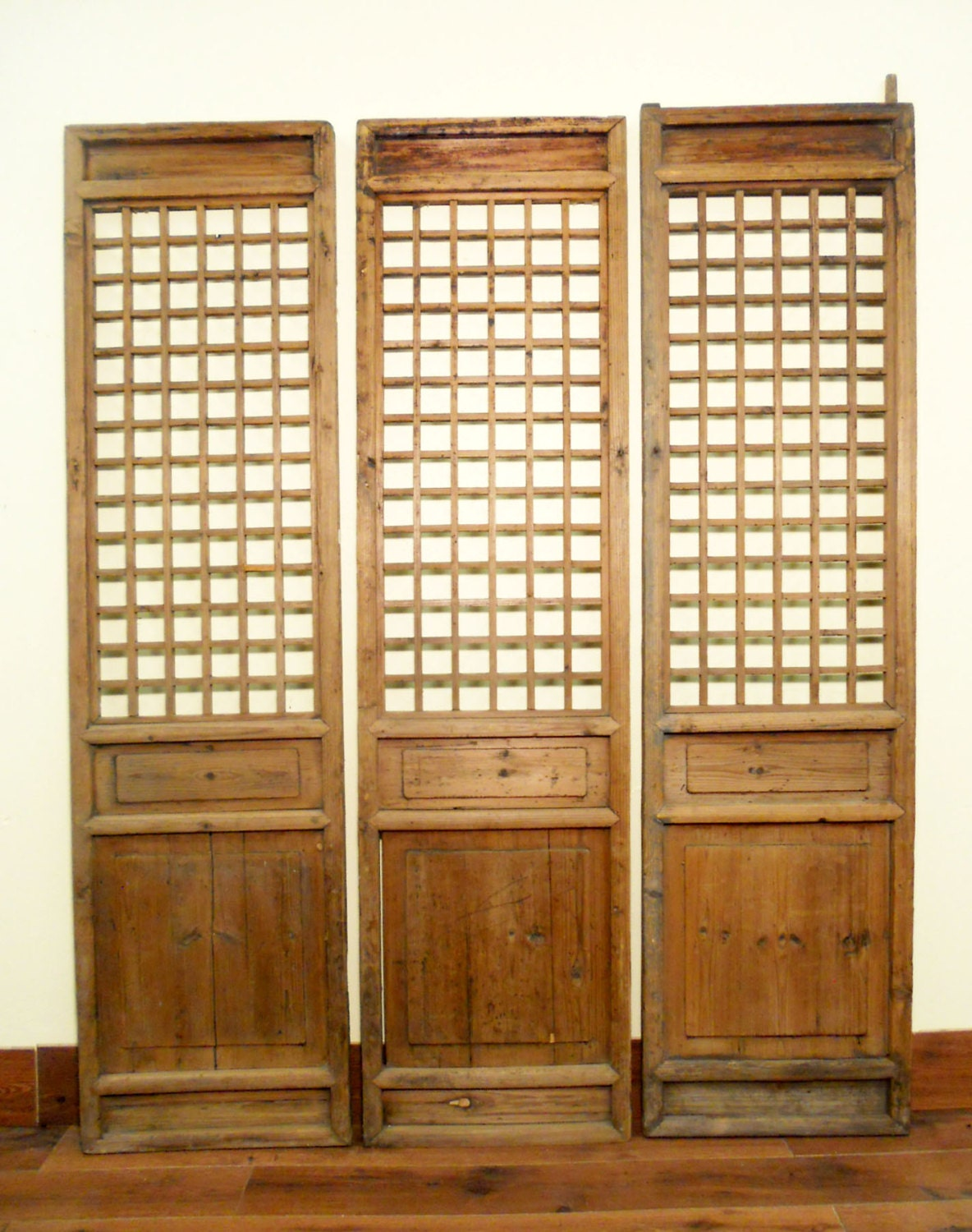 Antique chinese screen panels 5472 temple doors - Screens for doors that hang ...