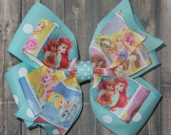 Disney Princess Palace Pets Hair Bow / Palace Pets / Palace Pets Bow / Whisker Haven / Cinderella / Belle / Snow White / Sleeping Beauty