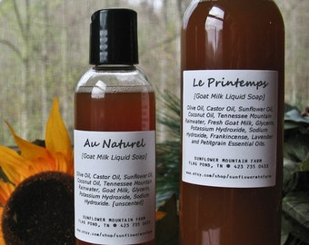 Natural Liquid Goat Milk Soap