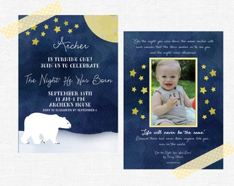 On the Night You Were Born Invitations-FREE SHIPPING or DIY printable