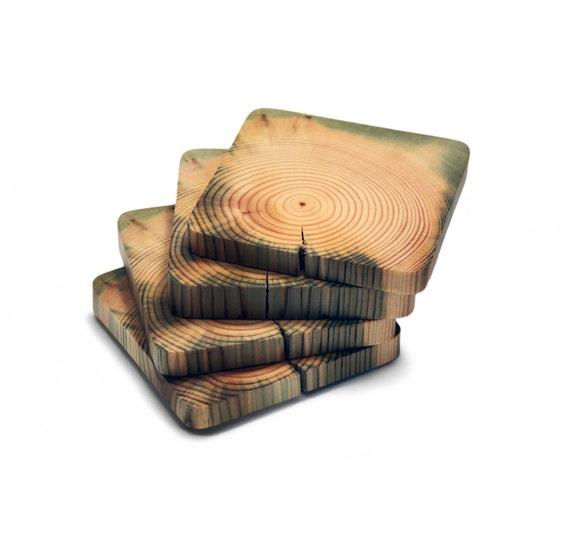 Scandinavian Pine Coasters Wooden Coasters Drink By