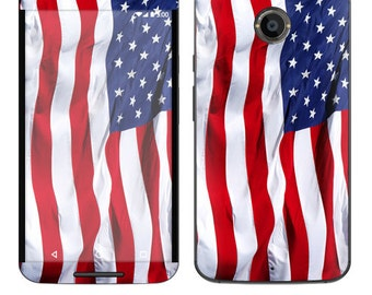 Skin Decal Wrap for Motorola Moto G (2nd) Google Nexus 6 Droid Turbo Moto X (2nd Gen) Droid Vinyl Cover Sticker Skins American Flag