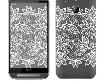 Skin Decal Wrap for HTC Desire 510 610 M9 + 1 M8 One Mini M4 Windows Phone 8X 1 X+ Evo 4G Vinyl Cover Sticker Skins Floral Lace