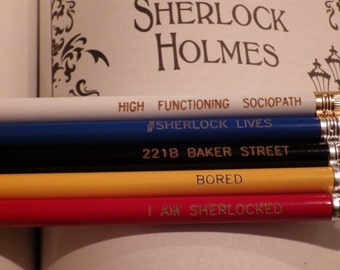 Set of FIVE BBC Sherlock Pencils