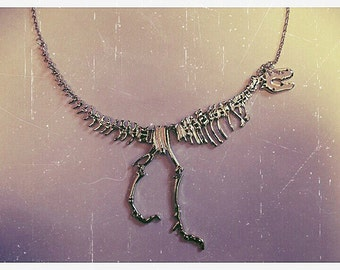 T Rex Skeleton Necklace