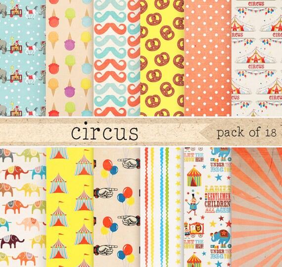 circus patterns printable - photo #6