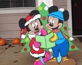 Wooden Christmas Yard Art Disney