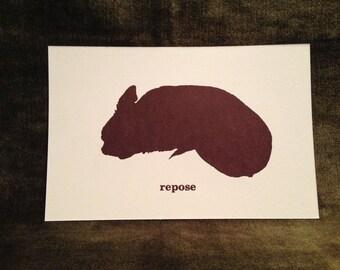 "Clovis Card Singles--""Repose"" with A9 envelope."