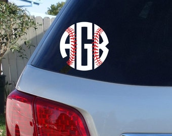 Baseball Car Decal Etsy - Custom car decals baseball