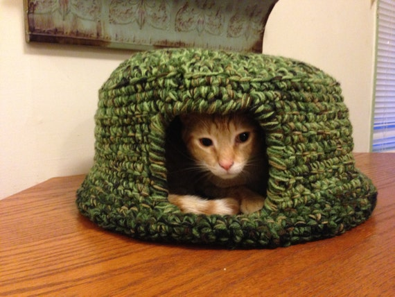 Cat Igloo Crochet Cat Igloo Pattern