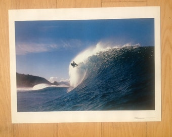 Wipe Out Surfer Hawaii Body Surf 19 x 25 poster