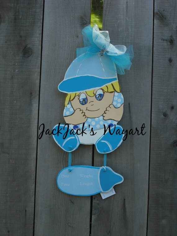 Items similar to wall hanging baby boy nursery nursery for Baby boy hospital door decoration