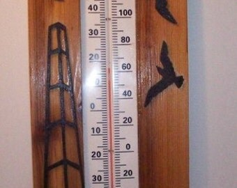 Windmill Indoor/Outdoor Thermometer