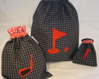 Personalized Golf Shoe Bag.Golf Ball/Tee Bag.Drawstring Golf Bag/Backpack.Golf Gift Women/Ladies/Men/Male/Kids/Child.Golf prize/set/Bags