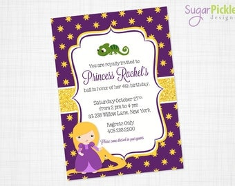 Princess RAPUNZEL Birthday Invitation, Tangled Party Invitation, Rapunzel Party, Rapunzel Birthday, PRINTABLE