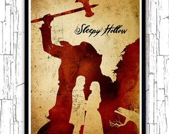 Tim Burton Sleepy Hollow Minimalist Poster