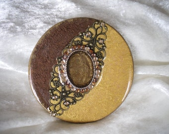 large cabochon, embellishment ,handmade,various creations