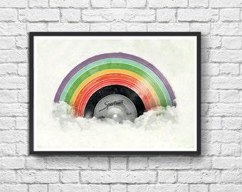 Poster - Rainbow Vinyle