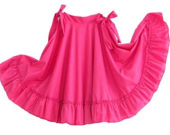 Girls Full Super Wide Skirt One Size Waist For Folkloric Dances New Handmade