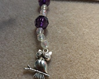Purple Owl Dangle/Suncatcher
