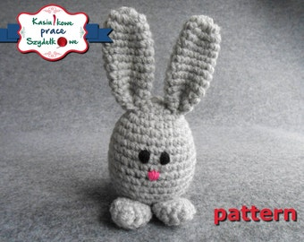 crochet Easter bunny pattern - amigurumi promo