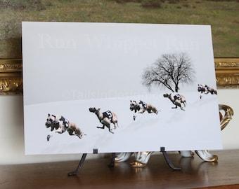Whippet Winter Run Art (N)