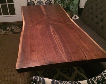 SOLD Live Edge Walnut Dining Table