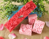 Rose Silicone Soap Mold Loaf Toast Handmade Cake Bread Baking Molds Chocolate Tools Mould D0016