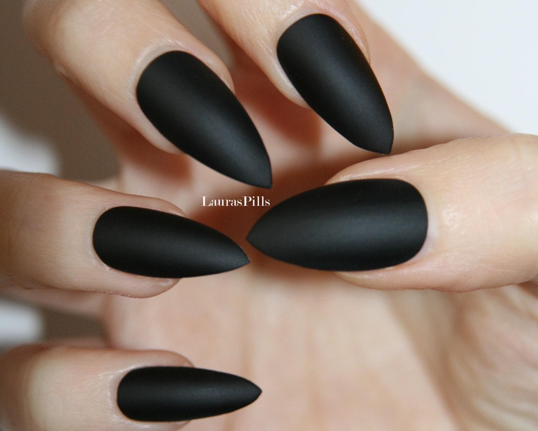 Images of Black Stiletto Nails - #SpaceHero