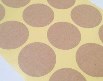 Blank Kraft Paper Round Stickers