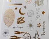 Metallic Gold Temporary Body Tattoos -Dreamy