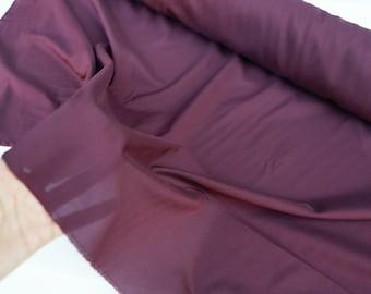 Burgundy Wine Stretch Georgette Fabric Semi Sheer  by the Yard