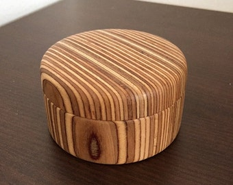 Little Wodden Box, Wooden Jewelry, Box, Birch, Handturned, Wood Turned.