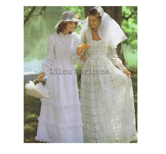Knitting dress pattern knitting pattern vintage knitting for Wedding dress patterns free download