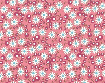 """Riley Blake Designs """"Flower Patch"""" by Lori Holt of Bee In My Bonnet - Pattern C4095 Berries Pink"""