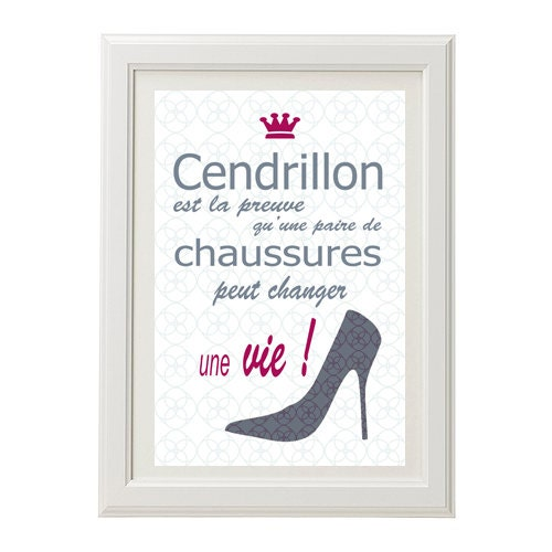 Affiche Citation Humour Cendrillon Poster