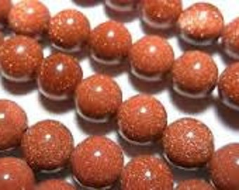 Goldstone Natural Gemstone - 6mm Rounds - Pack 50