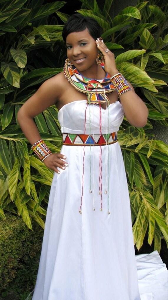 Maasai Masai Queen Princess Bridal Jewelry Set By