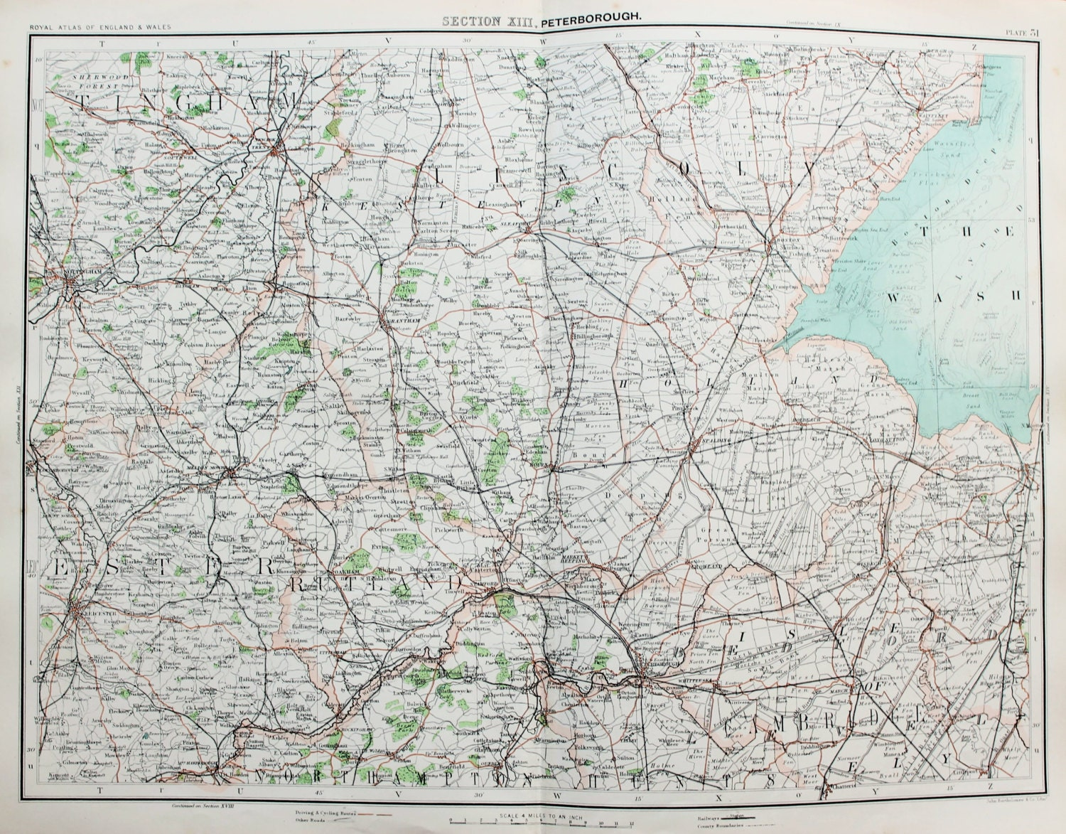 Antique Maps  Lincolnshire Cambridgeshire Rutland