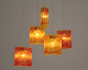 Fused Glass Pendant Lights Chandelier Lighting Hanging Ceiling Dining