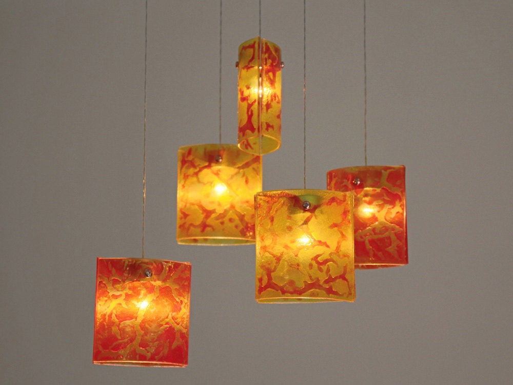 Fused Glass Pendant Lights Chandelier Lighting Hanging